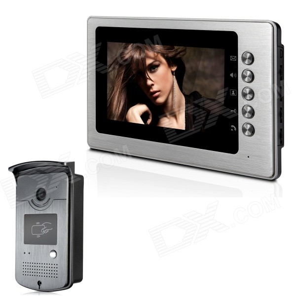 XYY-V70B-ID 7 TFT Color Video Door Phone System w/ Weatherproof Cover Camera / ID Card - Silver entity one color couture 6202 pin up girl