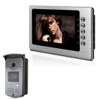 "XYY-V70B-ID 7"" TFT Color Video Door Phone System w/ Weatherproof Cover Camera / ID Card - Silver"