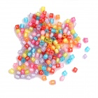 14091701 Plastic Woven Bracelet Accessories Quadrate Alphabet Beads - Multicolored