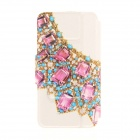 Kinston Gemstone Jewel Diamond Paste Pattern PU Leather Full Body Case Cover Stand for IPHONE 6 Plus