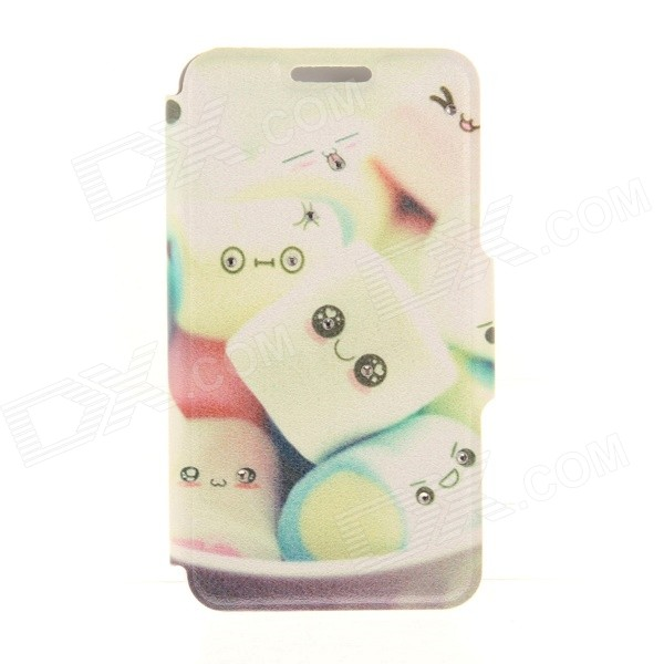 Kinston Lovely Cotton Candy Diamond Paste Pattern PU Leather Full Body Case Stand voor de iPhone 6 Plus