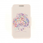 Kinston Long Hair Girl Pattern PU + Plastic Case w/ Stand for IPHONE 6 PLUS - Multicolored