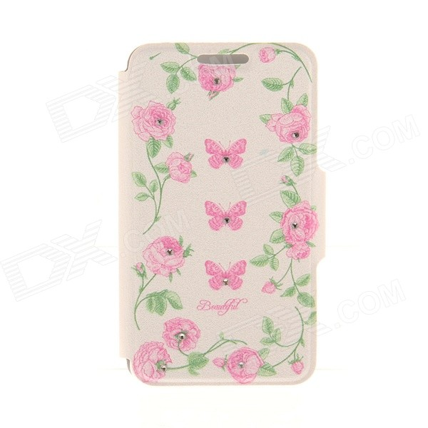 Kinston Butterfly Flower Diamond Paste Pattern PU Leather Full Body Case Stand for IPHONE 6 Plus sharpener polishing wax paste metals chromium oxide green abrasive paste chromium oxide green polishing paste