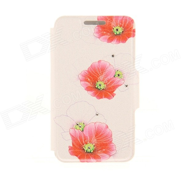 Kinston Three Flowers Diamond Paste Pattern PU Leather Full Body Case Cover Stand for IPHONE 6 Plus kinston pink lotus diamond paste pattern pu leather full body case cover stand for iphone 6 plus