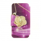 Patrón Kinston KST92531 Rose PU + caja de plástico w / Stand para IPHONE 6 PLUS - Golden + Purple