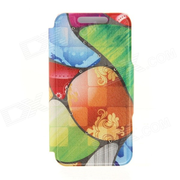 Kinston KST92530 Cobblestones Pattern PU + Plastic Case w/ Stand for IPHONE 6 PLUS - Multicolored kinston kst92535 silk pattern pu plastic case w stand for iphone 6 plus white