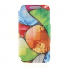 Kinston KST92530 Cobblestones Pattern PU + Plastic Case w/ Stand for IPHONE 6 PLUS - Multicolored