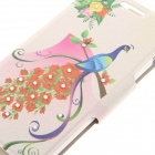 Kinston KST92483 Rose + Peacock Pattern PU + Plastic Case w/ Stand for IPHONE 6 PLUS - Multicolored