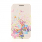 Kinston Watercolor Butterflies Pattern PU + Plastic Case w/ Stand for IPHONE 6 PLUS - Multicolored