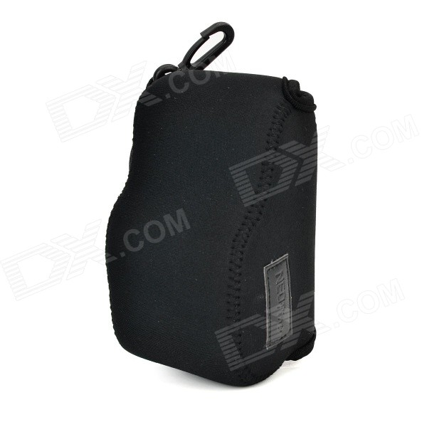 NEX-S Protective Soft Stretch Cotton Camera Bag w/ Closure for Sony NEX5T / NEX5R / NEX3N - Black l22 protective nylon carrying bag for sony nex 7n ne 5n nex f3 black blue