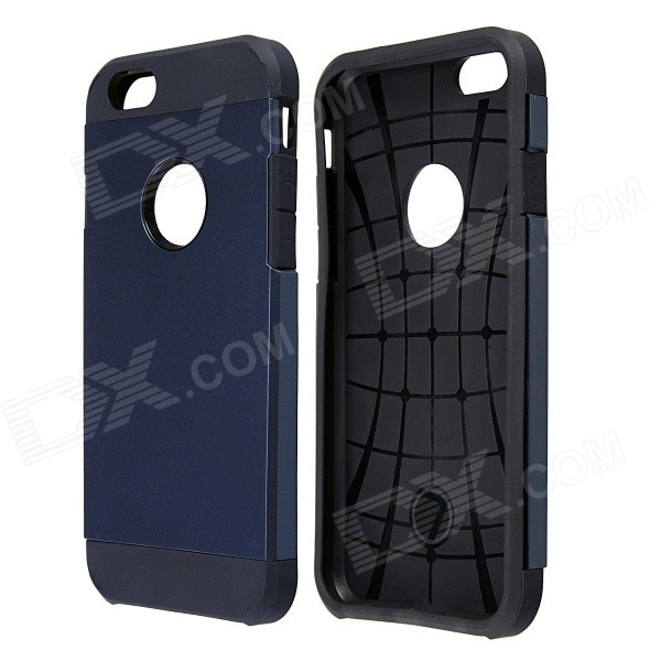 AL01 Slim Protective PC + Silicone Back Case for IPHONE 6 4.7 - Navy Blue