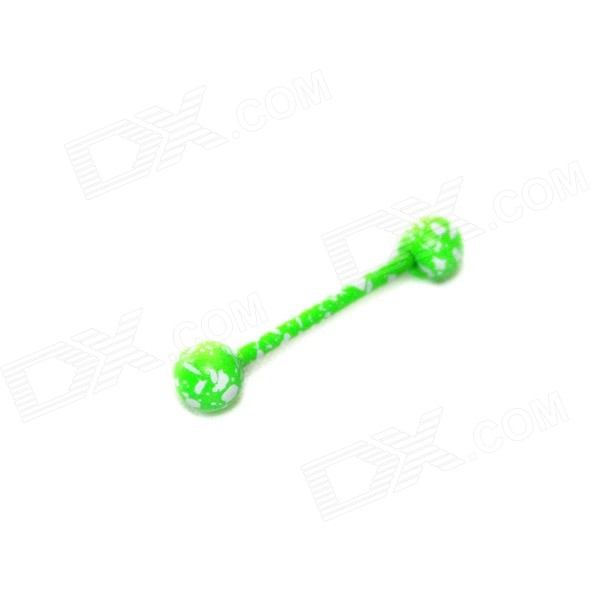 ME-012 Multi-Purpose Bone Style Stainless Steel Ear / Tongue Stud / Earring - Light Green
