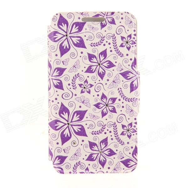 Kinston Five Petals Flowers Pattern PU + Plastic Case w/ Stand for IPHONE 6 PLUS - Multicolored kinston kst92535 silk pattern pu plastic case w stand for iphone 6 plus white