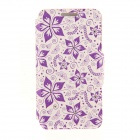 Kinston Five Petals Flowers Pattern PU + Plastic Case w/ Stand for IPHONE 6 PLUS - Multicolored