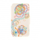 Kinston Art Flower + Vine Pattern PU + Plastic Case w/ Stand for IPHONE 6 PLUS - Multicolored