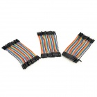 DIY 40P M-F / M-M / F-F Dupont Line Wire - Multicolored (3PCS)
