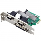 PCI-E to LPT/ 2XRS232 Expansion Card - Green