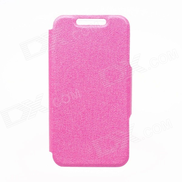 Kinston KST92535 Silk Pattern PU + Plastic Full Body Case w/ Stand for IPHONE 6 PLUS - Deep Pink kinston kst92535 silk pattern pu plastic case w stand for iphone 6 plus white