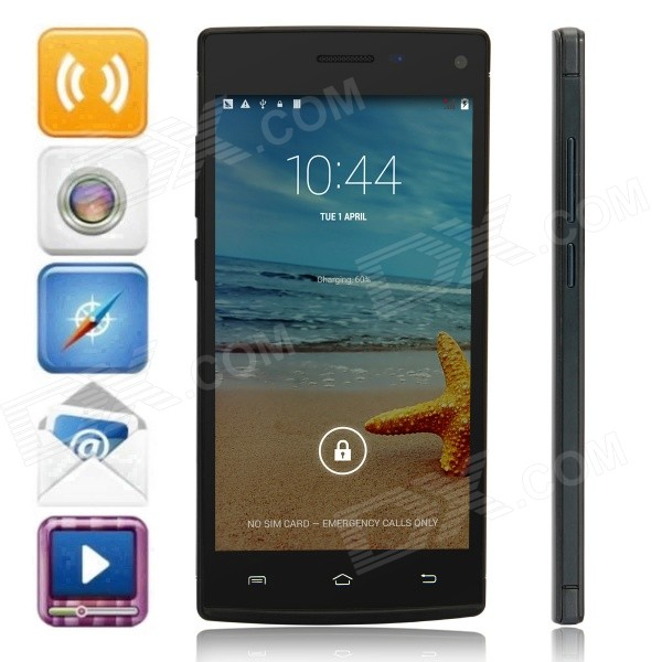 H930  MTK6592 Octa-Core Android 4.4.2 WCDMA Bar Phone w/ 5.0 QHD, 8GB ROM, GPS, OTG - Black z2 mtk6592 octa core android 4 2 2 wcdma bar phone w 5 0 ips hd 2gb ram 8gb rom gps otg white