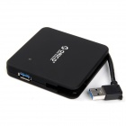 ORICO C3H4-BK 4-Ports Portable USB3.0 HUB with Hidden Cable - Black