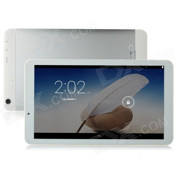 AMPE A101 10.1 Quad-Core Android 4.4 Tablet PC w/ 512MB RAM / 8GB ROM / Bluetooth - White zgpax s5 watch smart phone dual core 1 54 inch capacitive touch screen android 4 0 512mb ram 4g rom 2mp camera with gps silver black