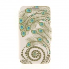 Kinston Peacock Feather Diamond Paste Pattern PU Leather Full Body Case with Stand for IPHONE 6 Plus