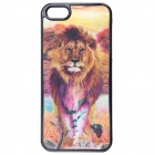 3D Graphic Lion & Tiger Style Pattern Protective Plastic Case for IPHONE 5 / 5S - Black + Yellow