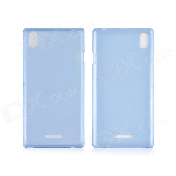 Angibabe 0.45mm Soft Translucent Clear TPU Phone Case for Sony Xperia T3 - Blue