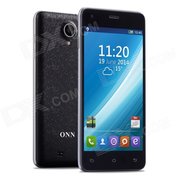 ONN K7 Sunny Quad-Core Android 4.4.2 WCDMA Bar Phone w/ 4.7 IPS, 1GB RAM, 8GB ROM, Wi-Fi - Black finesource g7 android 4 4 quad core wcdma bar phone w 5 5 4gb rom wi fi gps ota black