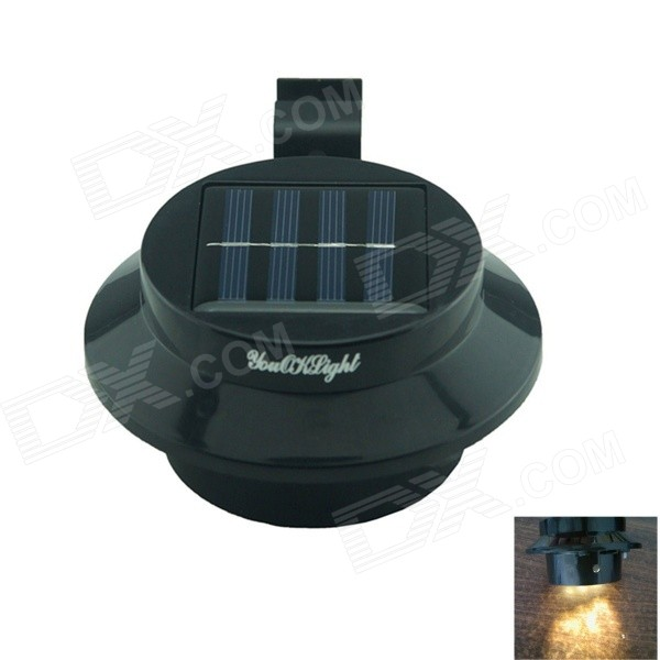 YouOKLight 0.5W 3-LED Warm White Mini Waterproof Solar Powered Fence /Garden/Water Lamp - Black free shipping 2017 newest mini wifi sports camera r360 220degree eyefish lens