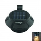 YouOKLight 0.5W 3-LED Warm White Mini Waterproof Solar Powered Fence /Garden/Water Lamp - Black
