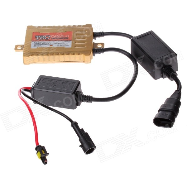 TANYUEZHE 55W HID 12V / 55W Universal Decoding Ballast - Golden + Black ecar e4035 can bus universal replacement 35w hid ballast dc 9 16v