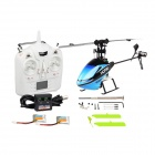Hisky HCP80 2,4 GHz 6-CH 3-assige R / C Helicopter w / Gyro - Light Blue + Black