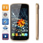 """AWANG T45 MTK6572 Dual-core Android 4.2.2 GSM Phone w/ 4.5"""" Screen, Quad-band, FM, Wi-Fi - Golden"""