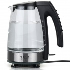 YD-WK-720 Temperature Control LED Blue Light Glowing Fast Boiling Electric Kettle - Black (1.5L)