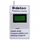 Professional Baiston B-800 1.3'' LCD Handheld Digital 50MHz-2.4GHz Frequency Counter - White