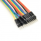 DIY 12.5cm 20-Pack Male to Male Dupont Line Wire - Multicolored
