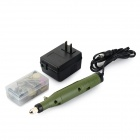 Multi-functional Mini Handheld Electric Drill Grinder Set - Green + Black + Multi-Colored