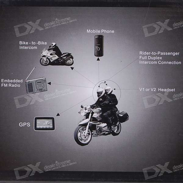 BT Interphone + Handsfree Bluetooth for Motorcycle and Skiing Helmet (5-Hour Talk/200-Hour Standby)