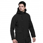 TAD N-116 Men's Outdoor Sport Water Resistant Windproof Polyester + Spandex Jacket - Black (M)