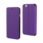 "Stylish Flip-Open PU Leather + PC Case for IPHONE 6 4.7"" - Purple"