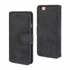 "Protective Flip-Open Retro Matte PU Leather Case w/ Card Slots + Stand for IPHONE 6 4.7"" - Black"