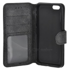 "Protective Flip-Open Retro Matte PU Leather Case w/ Card Slots + Stand for IPHONE 6 4.7"" - Gray"