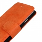 "Protective Flip-Open Retro Matte PU Leather Case w/ Card Slots + Stand for IPHONE 6 4.7"" - Saffron"