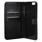 "Stylish Protective Flip-Open PU Leather + PC Case Cover w/ Stand for IPHONE 6 PLUS 5.5"" - Black"