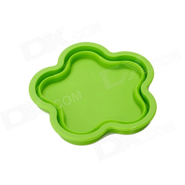 Flowers Style Silicone Folding Storage Box / Pad - Grass Green unique keyboard button style storage box grass green