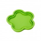 Flowers Style Silicone Folding Storage Box / Pad - Grass Green