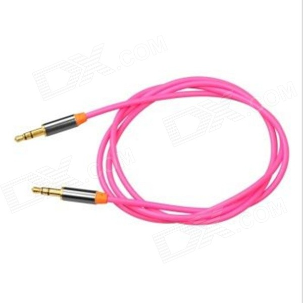 Yellow Knife YK15 3.5mm Male to Male Audio Connection Cable for Mobile, Car AUX - Pink (2m) 3 5mm male to male audio connection nylon cable white red black 1m
