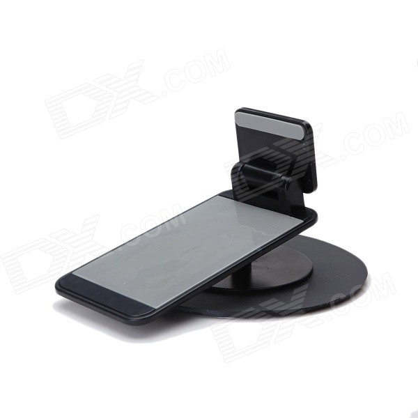 Portable Folding Universal Car Mount Holder w/ Anti-Slip Suction Cup for Cellphone - Black