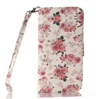Multicolored Floral Pattern PU Leather Wallet Case w/ Stand / Photo Frame for IPHONE 6 4.7''